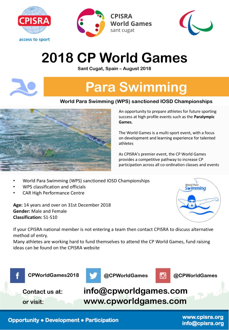 CPWG Sports Flyers World Para Swimming